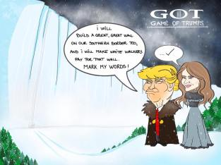 Urzeala Trumpilor, o formă de construire de zid, acum că iarna e la o lună distanță. Autorul: a voastră Alexandra.